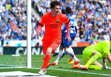 Messi helps 10-man Barca to Derbi success