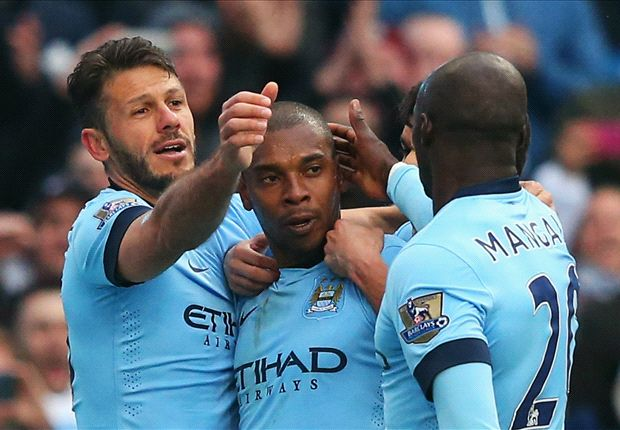 Manchester City 3-2 Aston Villa: Fernandinho scores crucial winner in top-four race