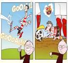 Cartoon: Ronaldo plays for Doncaster