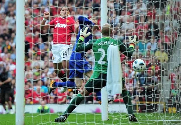Chicharitos Tor beschert Manchester United gegen den FC Everton fast den Titel