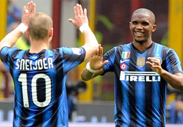 Inter 2-1 Lazio: Eto'o and Sneijder strikes complete comeback in a pulsating clash with the Biancocelesti
