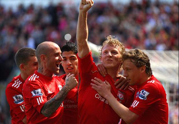 Liverpool striker Dirk Kuyt delighted that club's problem days are over