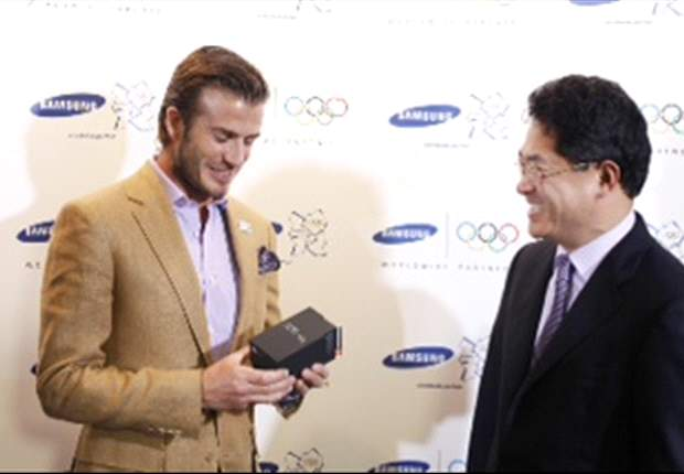 Samsung announce David Beckham will be the company's ambassador for London 2012 Olympics