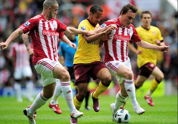 Stoke City 3-1 Arsenal: Van Persie strike not enough as Potters officially end miserable Gunners' Premier League chances