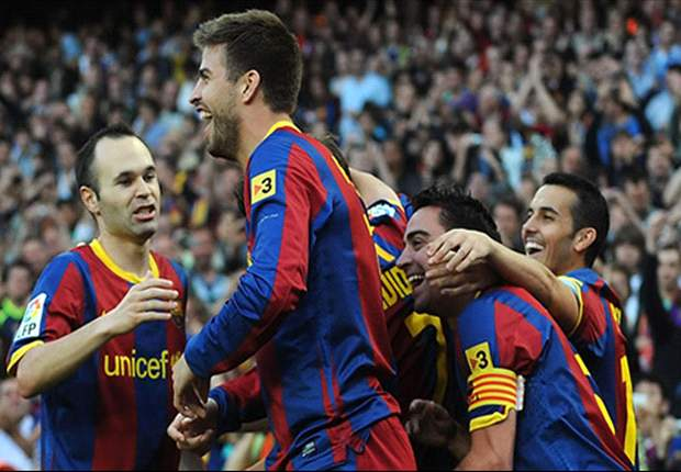 Barcelona 2-0 Espanyol: Barca move within one point of La Liga title as Iniesta & Pique seal derby win