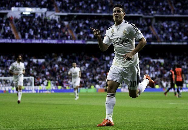 Real Madrid 3-0 Almeria: James Rodriguez rocket inspires Blancos to victory