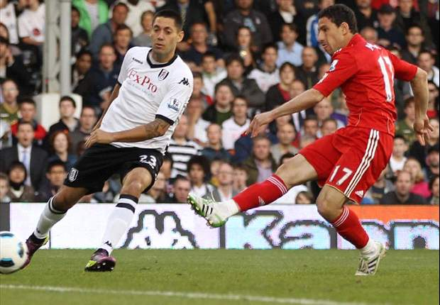 Fulham 2-5 Liverpool: Maxi Rodriguez hits another hat-trick as rampant Reds leapfrog Spurs into fifth spot