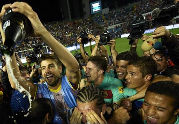 Gerard Pique's grandfather Amador Bernabeu revels in Barcelona's Champions League triumph