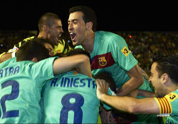 Levante 1-1 Barcelona: Pep Guardiola's men clinch third-successive La Liga title with Seydou Keita on target in draw