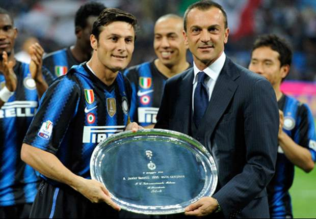 Javier Zanetti insists his Inter 'family' will never tire from winning after Coppa Italia success