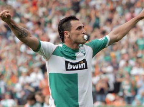 Hugo Almeida of Werder Bremen (AFP)