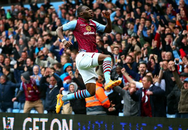 Aston Villa 3-2 Everton: Benteke double fires Sherwood's men closer to safety