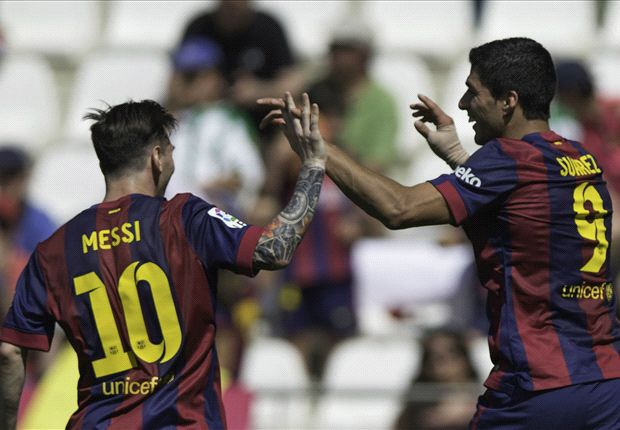 Cordoba 0-8 Barcelona: Suarez hits hat-trick in Catalan romp