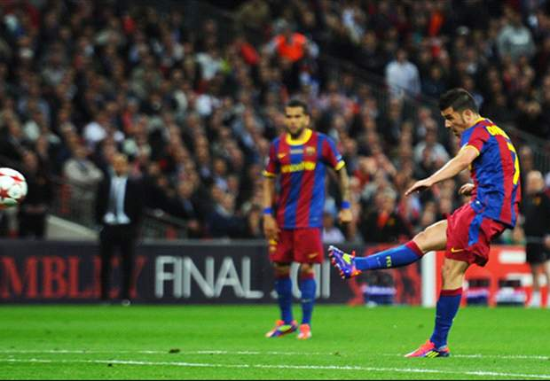 Barcelona's David Villa dedicates Champions League final goal against Manchester United to family