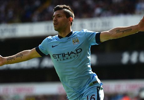 Aguero fires City past Spurs