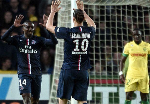 Nantes 0-2 Paris Saint-Germain: Cavani & Matuidi send champions three points clear