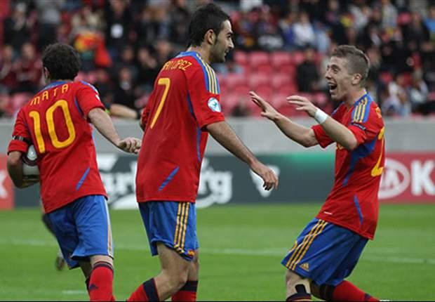 Ukraine U21 0-3 Spain U21: Adrian & Mata set up Belarus date in semi-finals