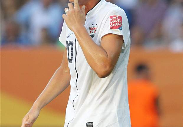 United States' Abby Wambach finishes behind Japan's Homare Sawa in FIFA World Women's Player of the Year voting