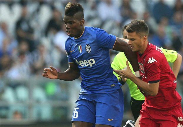 Juventus 1-1 Cagliari: Rossettini scores to dampen Pogba return