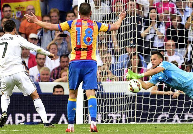 Real Madrid 2-2 Valencia: Ronaldo misses penalty as Ancelotti's men are held