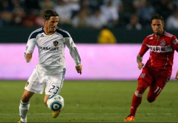 Los Angeles Galaxy 2-1 Chicago Fire: Beckham and Donovan lead Galaxy to win