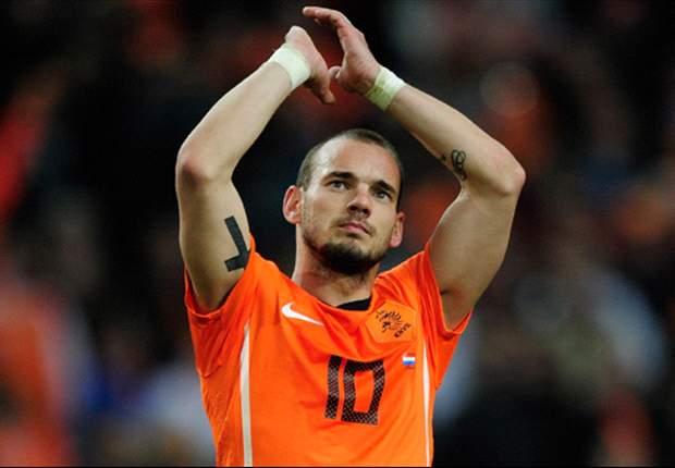 Sneijder wat later bij Oranje