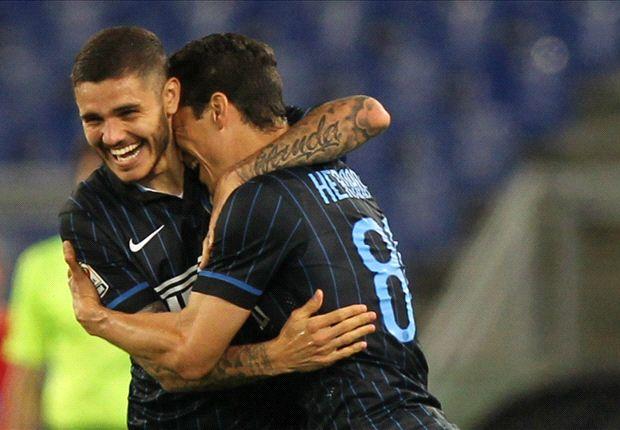 Lazio 1-2 Inter: Hernanes double downs nine-man hosts