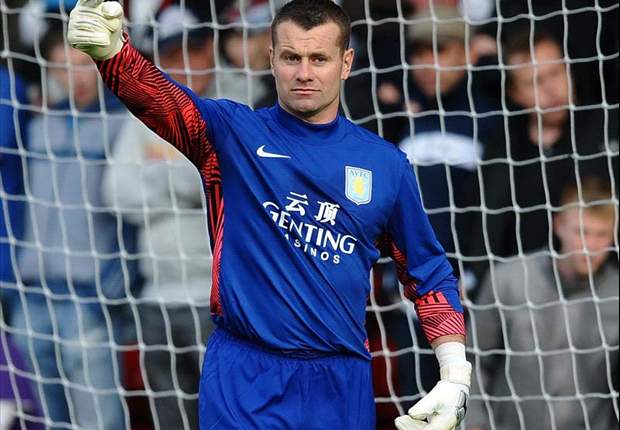 Aston Villa's Shay Given faces a month on the sidelines with torn hamstring