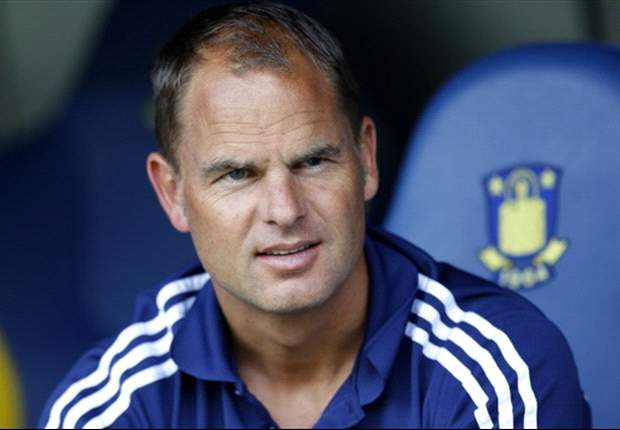 Frank de Boer says it is a 'big surprise' to be facing Manchester United in the Europa League