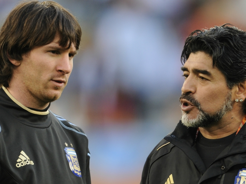 Maradona says invitation to Messi wedding must have 'got lost somewhere'