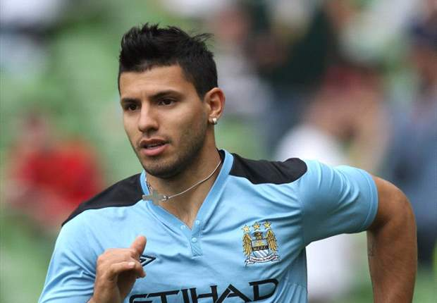 TEAM NEWS: Manchester City's Sergio Aguero starts on the bench for Community Shield clash with Manchester United