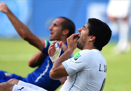 Chiellini: I don't hold Suarez grudge