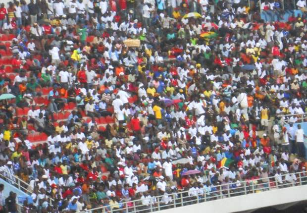 Fans at a Ghana League match