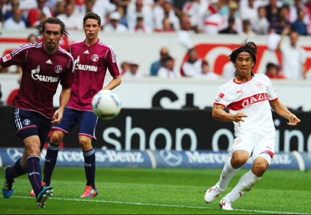 Stuttgart 3-0 Schalke: Okazaki wonder goal rounds off comprehensive win