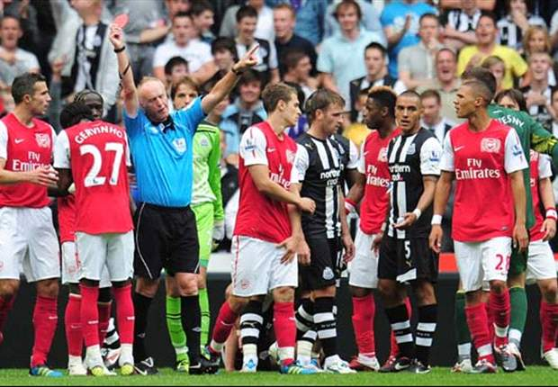Newcastle 0-0 Arsenal: Gervinho sent off on debut as Joey Barton features at the centre of controversy once again