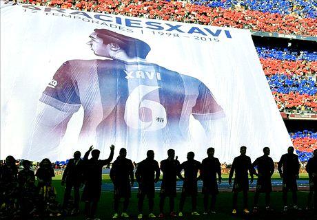 Xavi Says Farewell At Camp Nou
