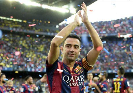Xavi's goodbye to Barcelona