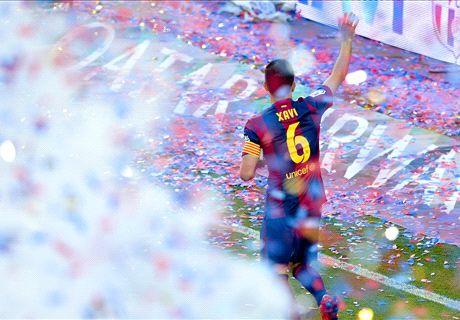 Les adieux de Xavi au Camp Nou
