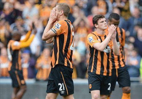 Hull relegated after Man Utd stalemate