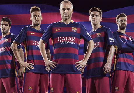 O novo uniforme do Barcelona