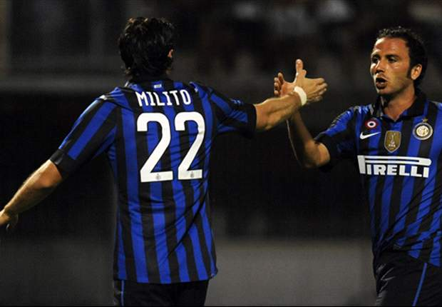 TEAM NEWS: Diego Milito and Giampaolo Pazzini to lead 4-4-2 for Inter as Maicon and Lucio return against Fiorentina