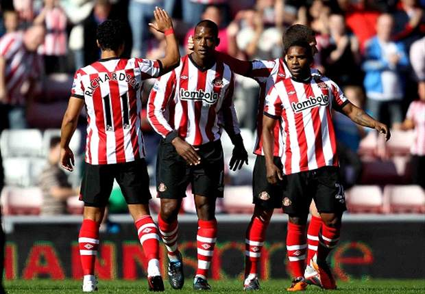 Sunderland 4-0 Stoke City: First-half blitz eases pressure on Steve Bruce as visitors suffer Europa League hangover