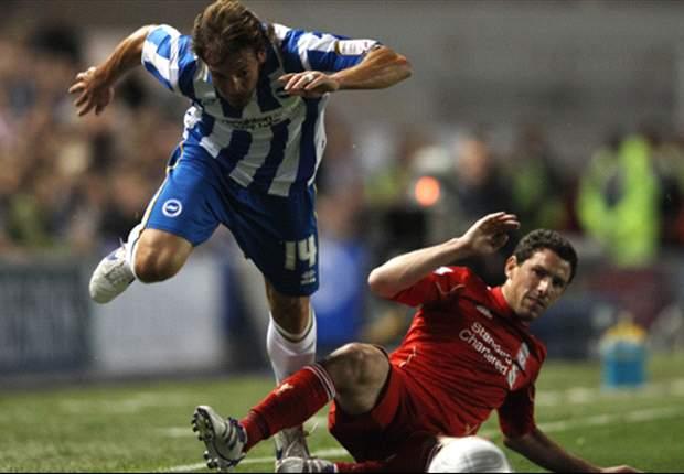 Brighton 1-2 Liverpool: Craig Bellamy scores first goal since Anfield return