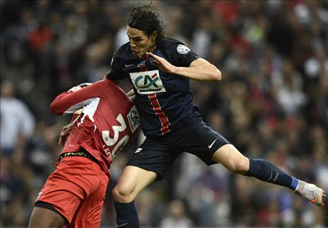 Cavani heads PSG to historic treble