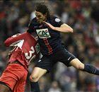 Cavani heads PSG to historic treble
