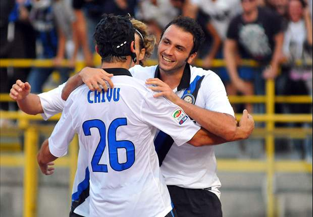 Bologna 1-3 Inter: Pazzini, Milito and Lucio hand Ranieri debut win
