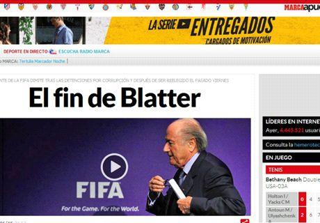 La presse du monde relate la démission de Blatter