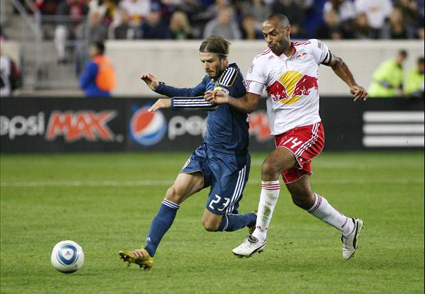 New York Red Bulls 2-0 LA Galaxy: Reserves and David Beckham batted back