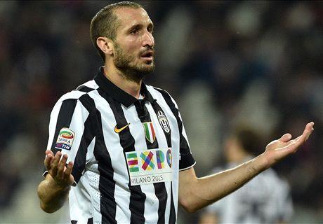 Juve-Lazio, Chiellini è out: stop di 20 giorni
