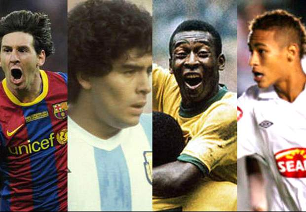 Pele: Santos' Neymar will be a great player like Barcelona's Lionel Messi and Diego Maradona